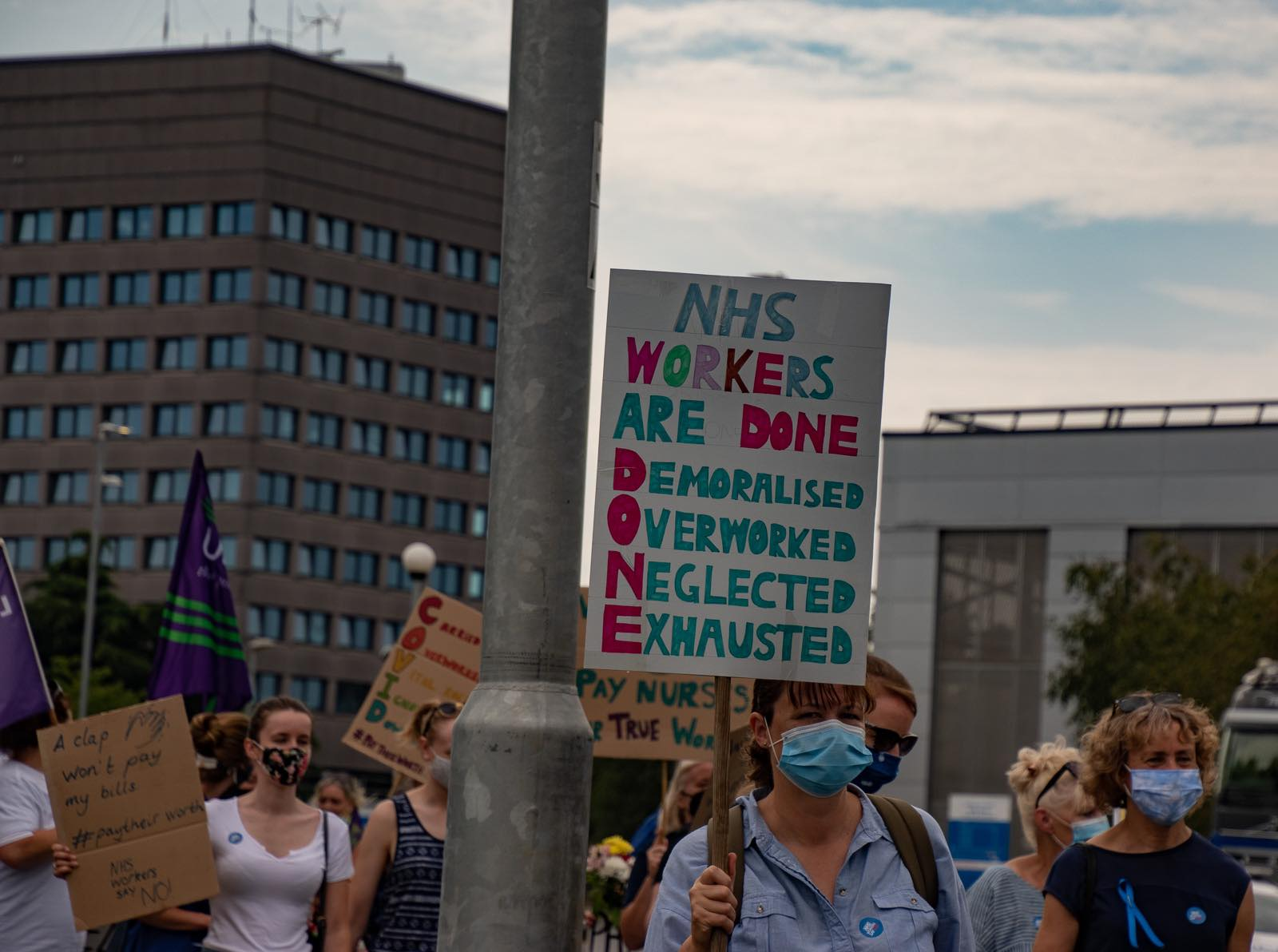 'Rise Like Lions' – Essex NHS Workers March to Protest Pay